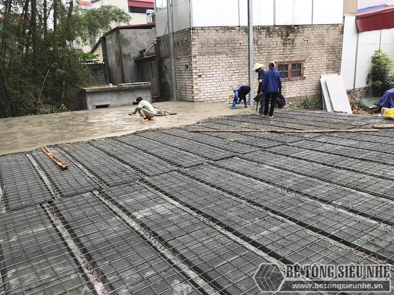 Thi công sàn bê tông nhẹ