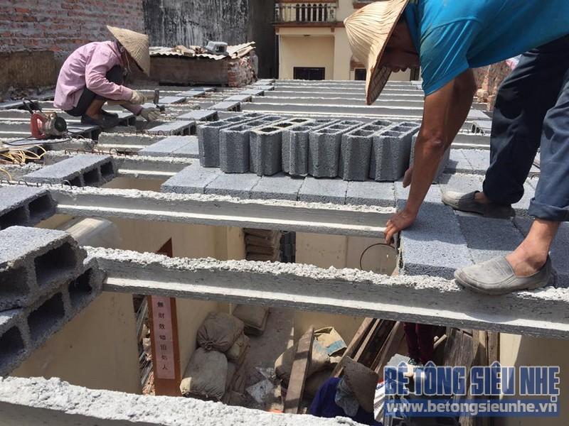 Cải tạo nhà bằng bê tông siêu nhẹ tại Mễ Trì Nam Từ Liêm Hà Nội
