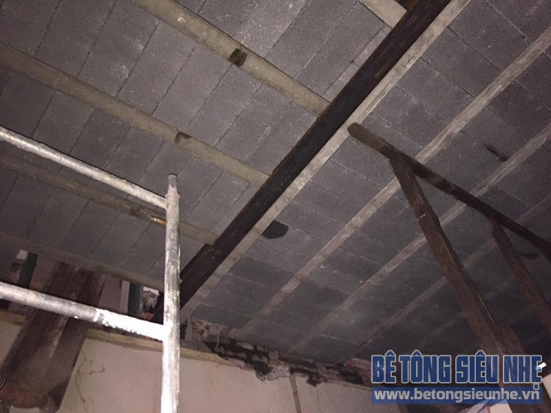 Cải tạo nhà bằng bê tông siêu nhẹ cho nhà anh Việt, phường Trần Lãm, TP.Thái Bình