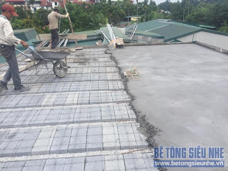 Thi công sàn bê tông siêu nhẹ tại Đông Mỹ, Thanh Trì, Hà Nội