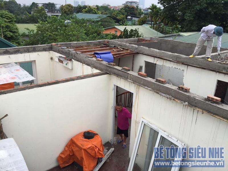 Cải tạo nhà phố bằng bê tông siêu nhẹ tại Khương Đình, Thanh Xuân, Hà Nội