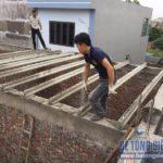 Thi công 100m sàn bê tông siêu nhẹ Xuân Mai tại Quế Võ, Bắc Ninh