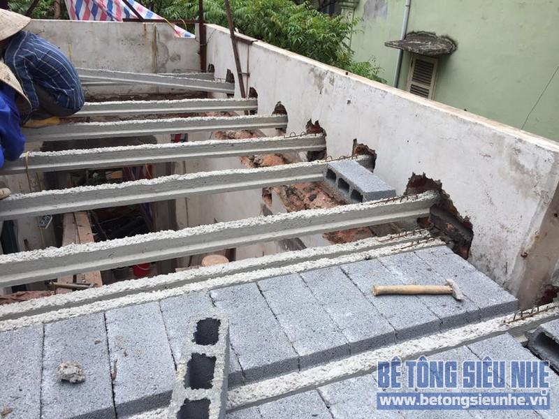 Cải tạo nhà cũ bằng bê tông nhẹ tại Mỹ Độ, Bắc Giang