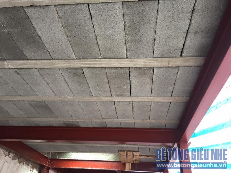 Cải tạo nhà phố bằng bê tông siêu nhẹ cho nhà anh Tuấn tại Nghĩa Đô, Cầu Giấy