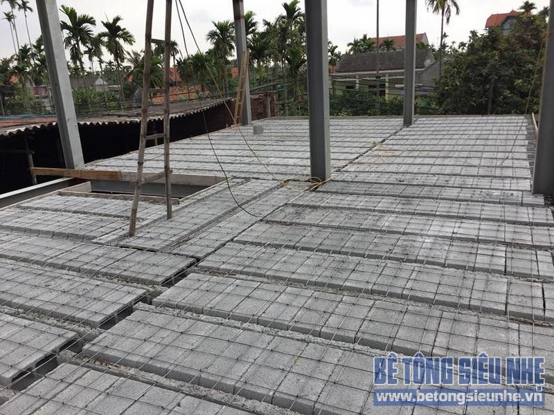 Thi công sàn bê tông siêu nhẹ cho hệ thống nhà xưởng tại Hải Phòng