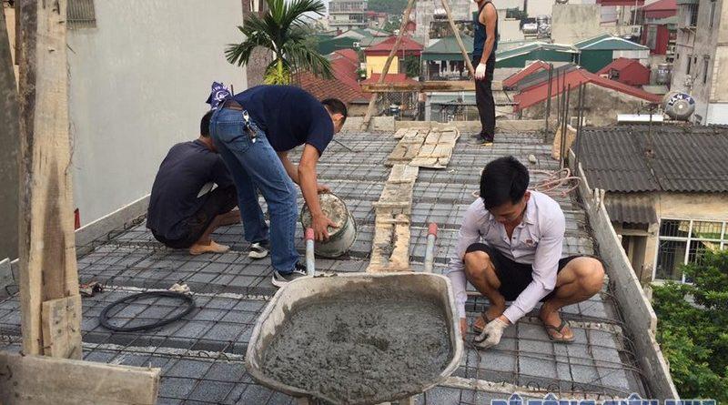 Thi công sàn bê tông siêu nhẹ cho nhà anh Thái tại Quan Nhân, Thanh Xuân