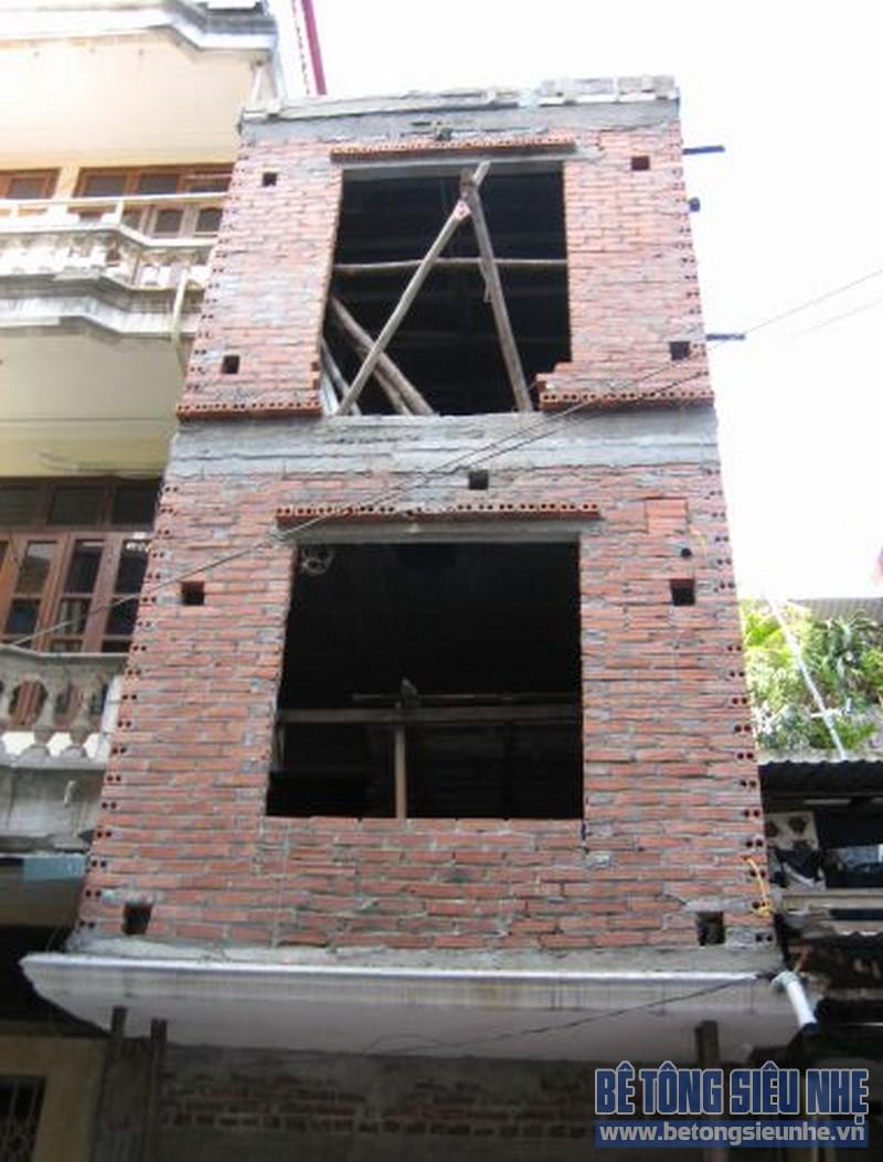 Thi công sàn bê tông nhẹ cho nhà anh Hải tại Cẩm Yên, Thạch Thất, Hà Nội