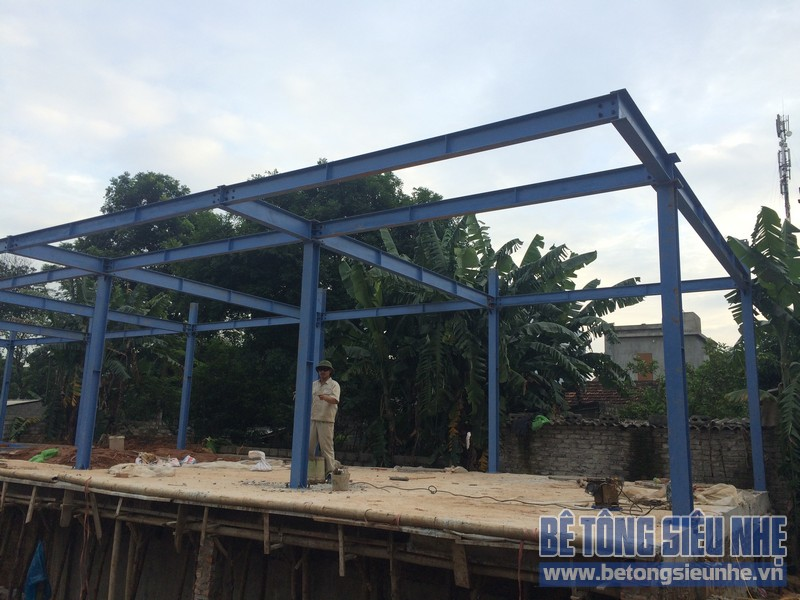 Nhìn lại công tác thi công nhà khung thép, sàn bê tông nhẹ khách sạn Hồ Núi Đính (Ninh Bình) P2