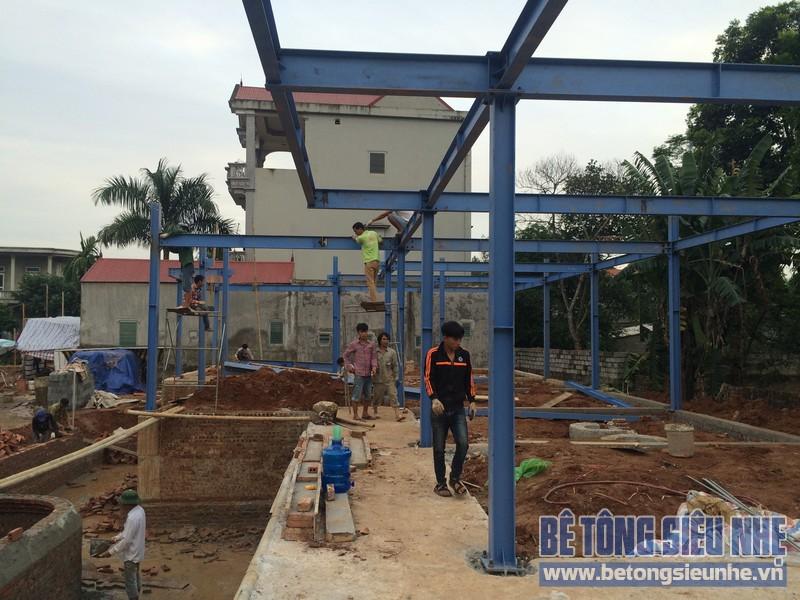 Nhìn lại công tác thi công nhà khung thép, sàn bê tông nhẹ khách sạn Hồ Núi Đính (Ninh Bình) P3