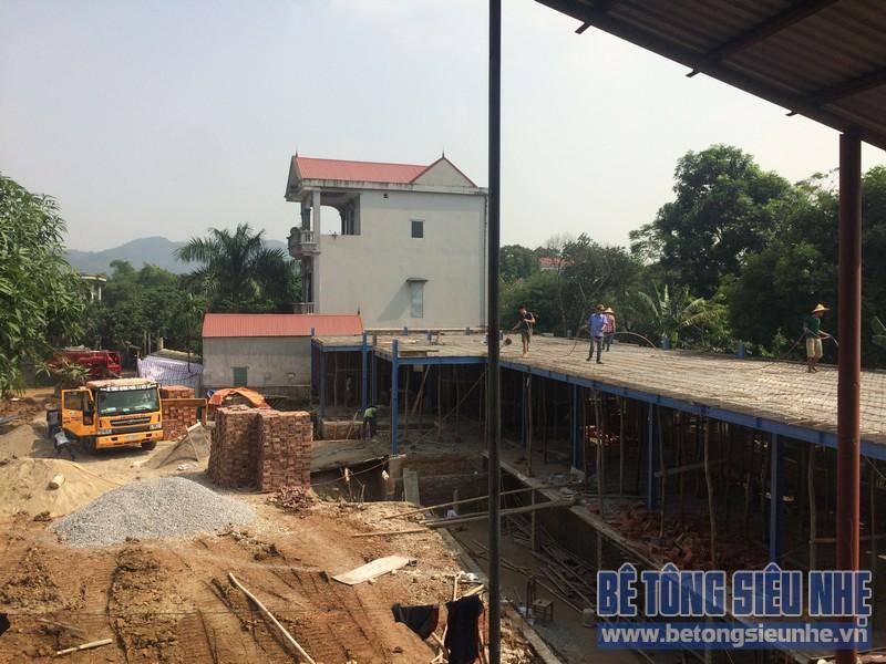 Công tác thi công nhà khung thép, sàn bê tông nhẹ khách sạn Hồ Núi Đính (Ninh Bình) P5