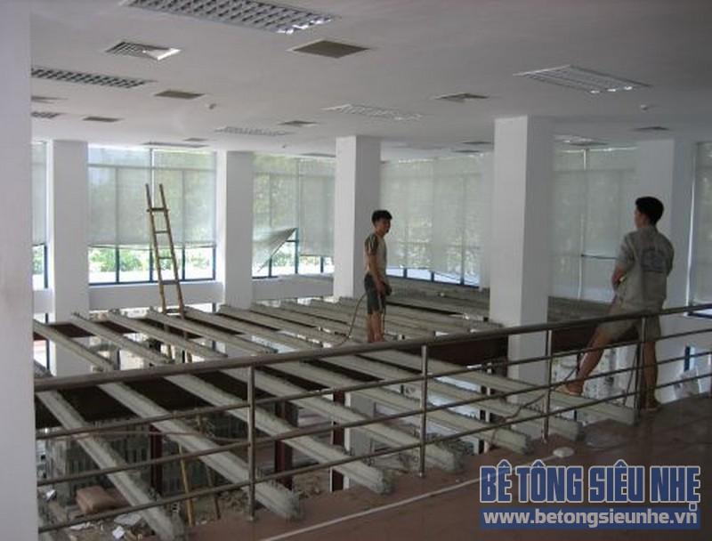 Thi công nhà khung thép, sàn bê tông nhẹ tại Tân Triều, Thanh Trì, Hà Nội