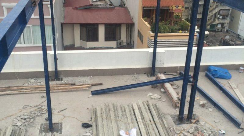 Cập nhật tiến trình thi công nhà khung thép tại Phan Chu Trinh, Hoàn Kiếm, Hà Nội