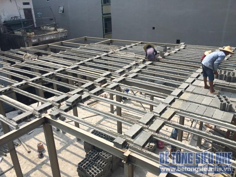 Thi công nhà khung thép tại Phú Thượng, Tây Hồ, Hà Nội