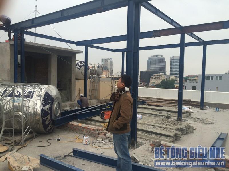 Thi công nhà khung thép tại số 32 Trương Hán Siêu