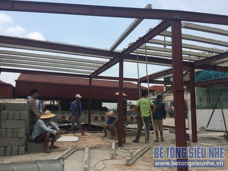Thi công nhà khung thép kết hợp sàn panel tại Triều Khúc, Thanh Trì, Hà Nội