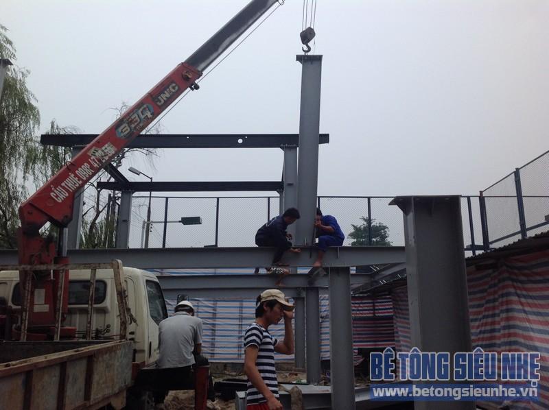 Thi công nhà xưởng bằng khung thép tiền chế tại Đông Anh