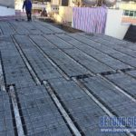 Làm trần nhà phố bằng sàn bê tông siêu nhẹ nhà anh Hưng ở ngõ 266 Hồ Tùng Mậu
