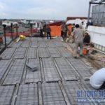 Cơi nới nhà phố bằng khung thép và sàn bê tông nhẹ tại nhà anh Hiển, Lĩnh Nam, Hoàng Mai, Hà Nội