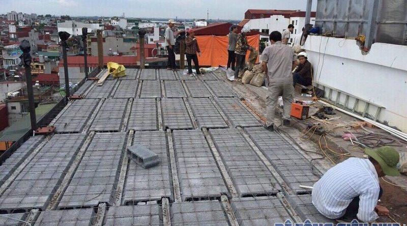 Làm trần nhà phố bằng bê tông nhẹ nhà anh Hiển, Lĩnh Nam, Hoàng Mai, Hà Nội - 08