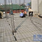 Thi công sàn bê tông nhẹ Xuân Mai tại nhà anh Hùng, Phương Mai, Đống Đa, Hà Nội