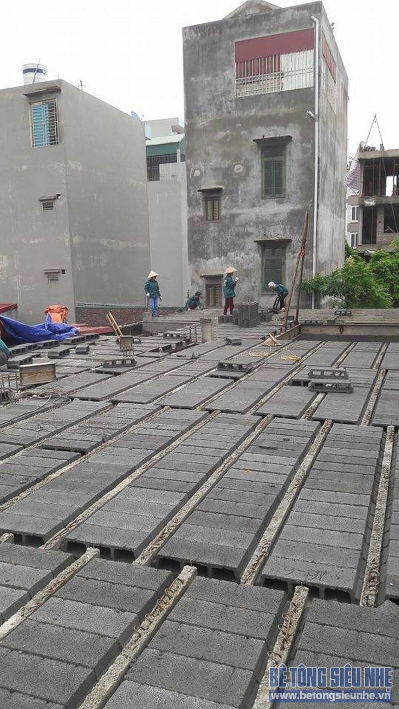 Hoàn thiện sàn bê tông siêu nhẹ nhà anh Thiện, Đông Anh, Hà Nội - 05