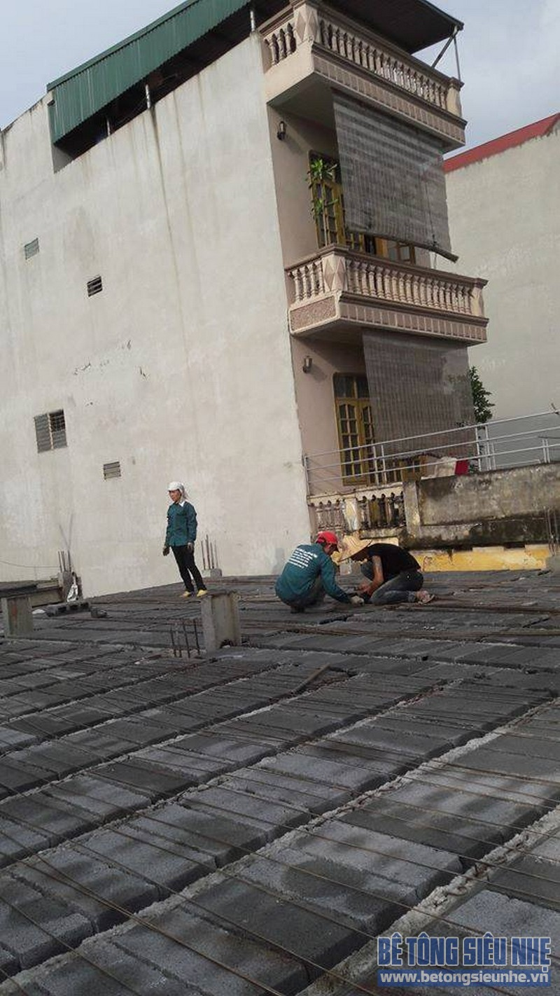 Hoàn thiện sàn bê tông siêu nhẹ nhà anh Thiện, Đông Anh, Hà Nội - 07