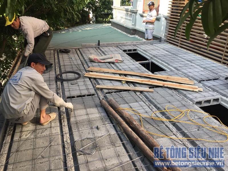 Cải tạo nhà phố bằng sàn bê tông nhẹ nhà anh Trinh, Cầu giấy, Hà Nội - 01