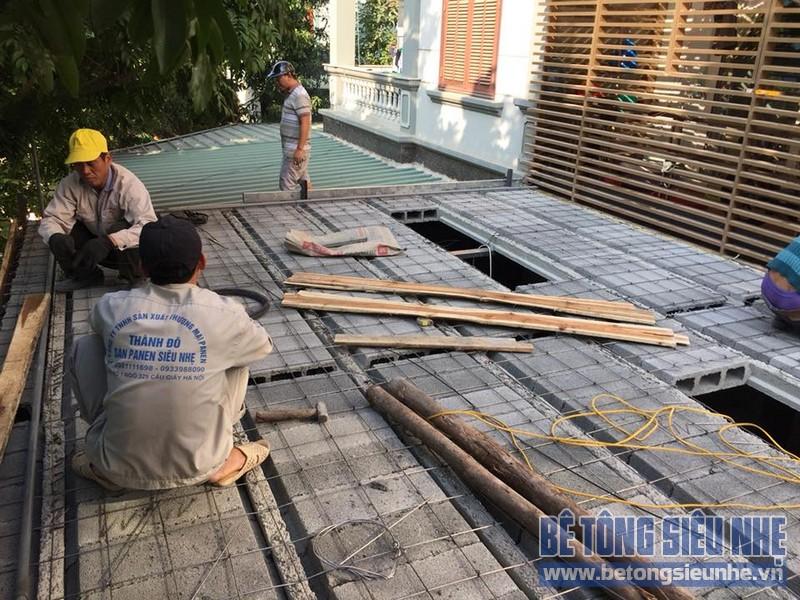 Cải tạo nhà phố bằng sàn bê tông nhẹ nhà anh Trinh, Cầu giấy, Hà Nội - 02
