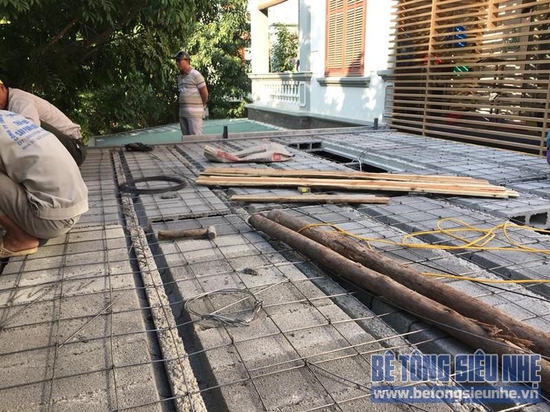 Cải tạo nhà phố bằng sàn bê tông nhẹ nhà anh Trinh, Cầu giấy, Hà Nội - 04