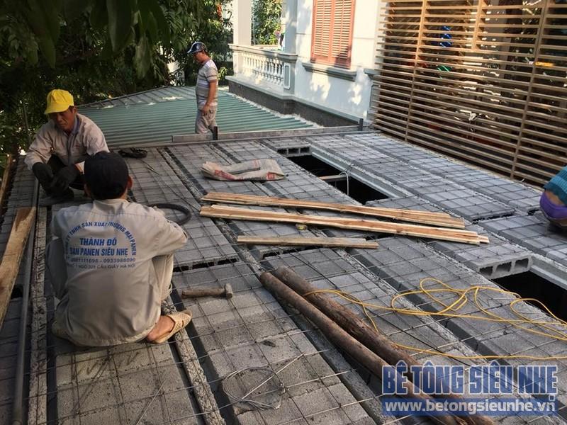 Cải tạo nhà phố bằng sàn bê tông nhẹ nhà anh Trinh, Cầu giấy, Hà Nội - 06