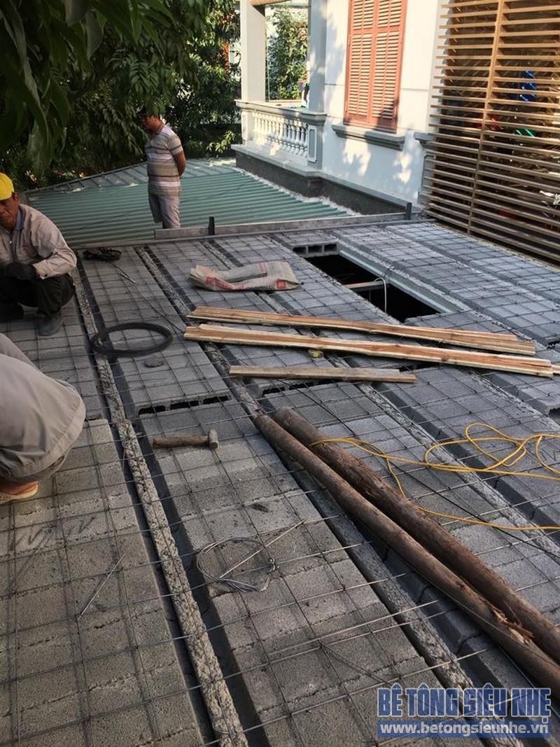Cải tạo nhà phố bằng sàn bê tông nhẹ nhà anh Trinh, Cầu giấy, Hà Nội - 07