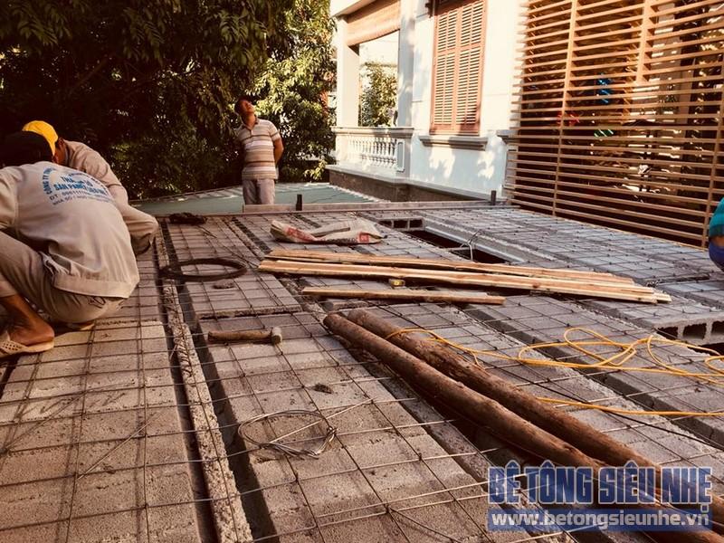 Cải tạo nhà phố bằng sàn bê tông nhẹ nhà anh Trinh, Cầu giấy, Hà Nội - 08