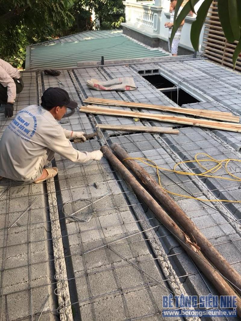 Cải tạo nhà phố bằng sàn bê tông nhẹ nhà anh Trinh, Cầu giấy, Hà Nội - 09