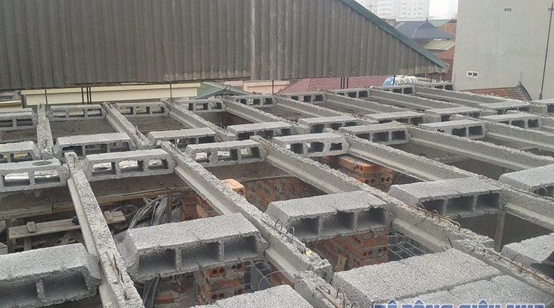 Đơn giá 1m2 sàn bê tông nhẹ lắp ghép làm trần nội - ngoại thất