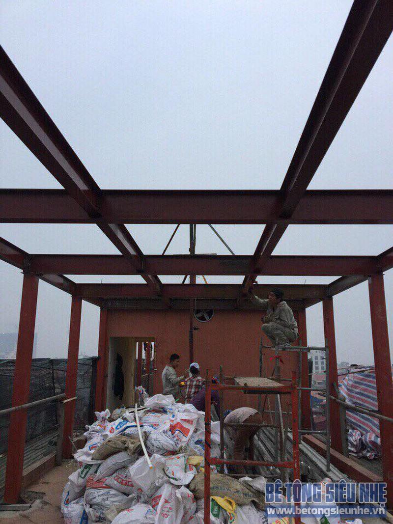 Cải tạo nhà bằng hệ khung thép và sàn bê tông nhẹ nhà anh Thành, Phú Diễn, Bắc Từ Liêm, Hà Nội - 02