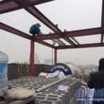 Cải tạo nhà phố bằng hệ khung thép và sàn bê tông nhẹ nhà anh Thanh, Phú Diễn, Bắc Từ Liêm, Hà Nội