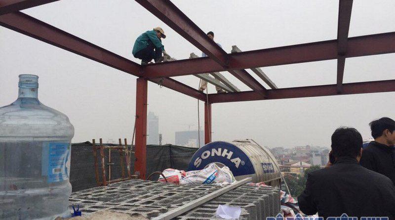 Cải tạo nhà bằng hệ khung thép và sàn bê tông nhẹ nhà anh Thành, Phú Diễn, Bắc Từ Liêm, Hà Nội - 03
