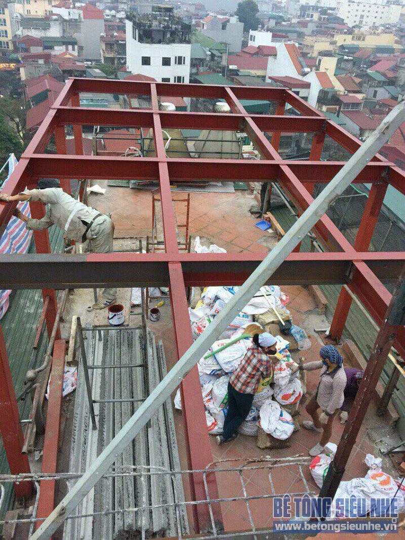 Cải tạo nhà bằng hệ khung thép và sàn bê tông nhẹ nhà anh Thành, Phú Diễn, Bắc Từ Liêm, Hà Nội - 04