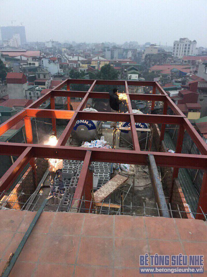 Cải tạo nhà bằng hệ khung thép và sàn bê tông nhẹ nhà anh Thành, Phú Diễn, Bắc Từ Liêm, Hà Nội - 05