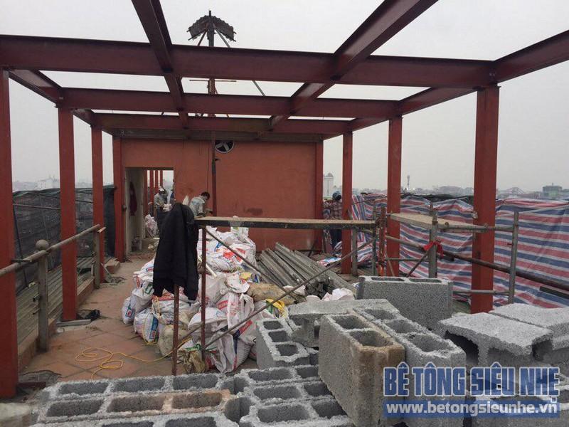 Cải tạo nhà bằng hệ khung thép và sàn bê tông nhẹ nhà anh Thành, Phú Diễn, Bắc Từ Liêm, Hà Nội - 06