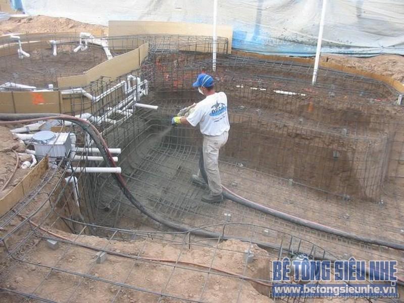 bê tông phun đang được sử dụng nhiều trong việc cải tạo nâng cấp, sửa chửa đồng thời tăng cường khả năng chịu lực cho các công trình