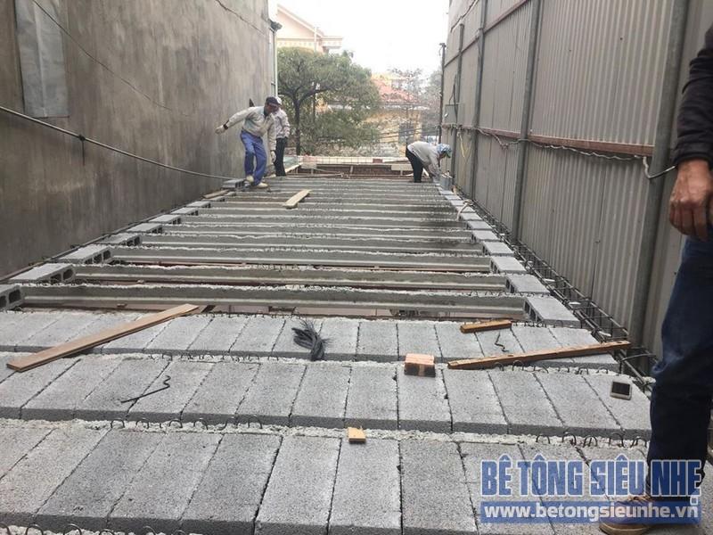 Thi công nhà khung thép và sàn bê tông siêu nhẹ nhà anh Quang, Tây Tựu, Bắc Từ Liêm, Hà Nội - 04