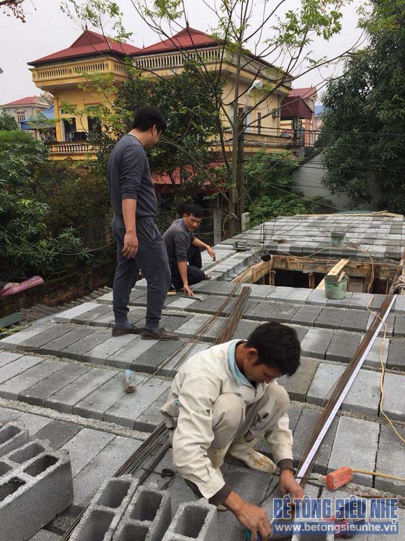 Bề mặt sàn bê tông siêu nhự sau khi hoàn thiện việc lắp ghép gạch block