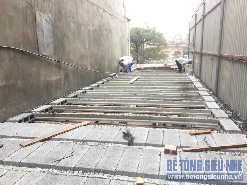 Thi công nhà khung thép và sàn bê tông siêu nhẹ nhà anh Quang, Tây Tựu, Bắc Từ Liêm, Hà Nội - 05