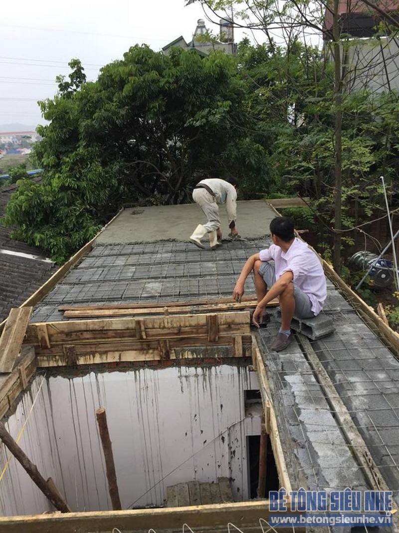 Thi công sàn bê tông siêu nhẹ làm mái nhà cho gia đình anh Doanh, Sóc Sơn, Hà Nội - 07