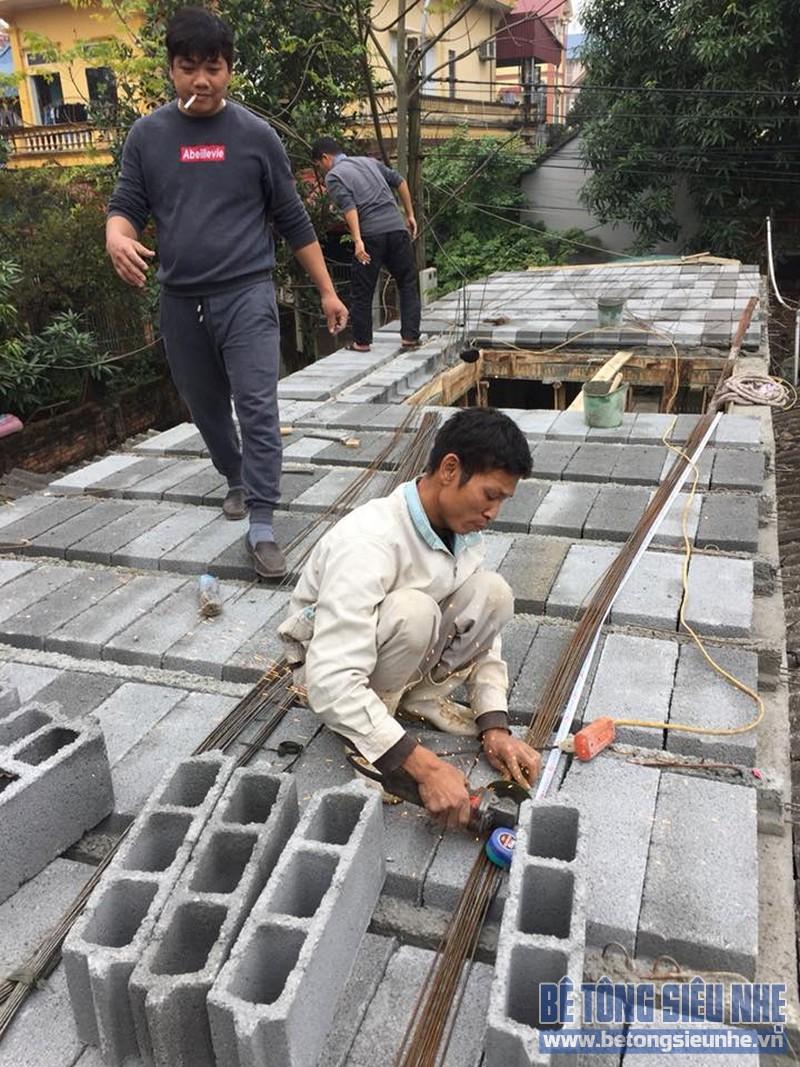 Thi công sàn bê tông siêu nhẹ làm mái nhà cho gia đình anh Doanh, Sóc Sơn, Hà Nội - 05