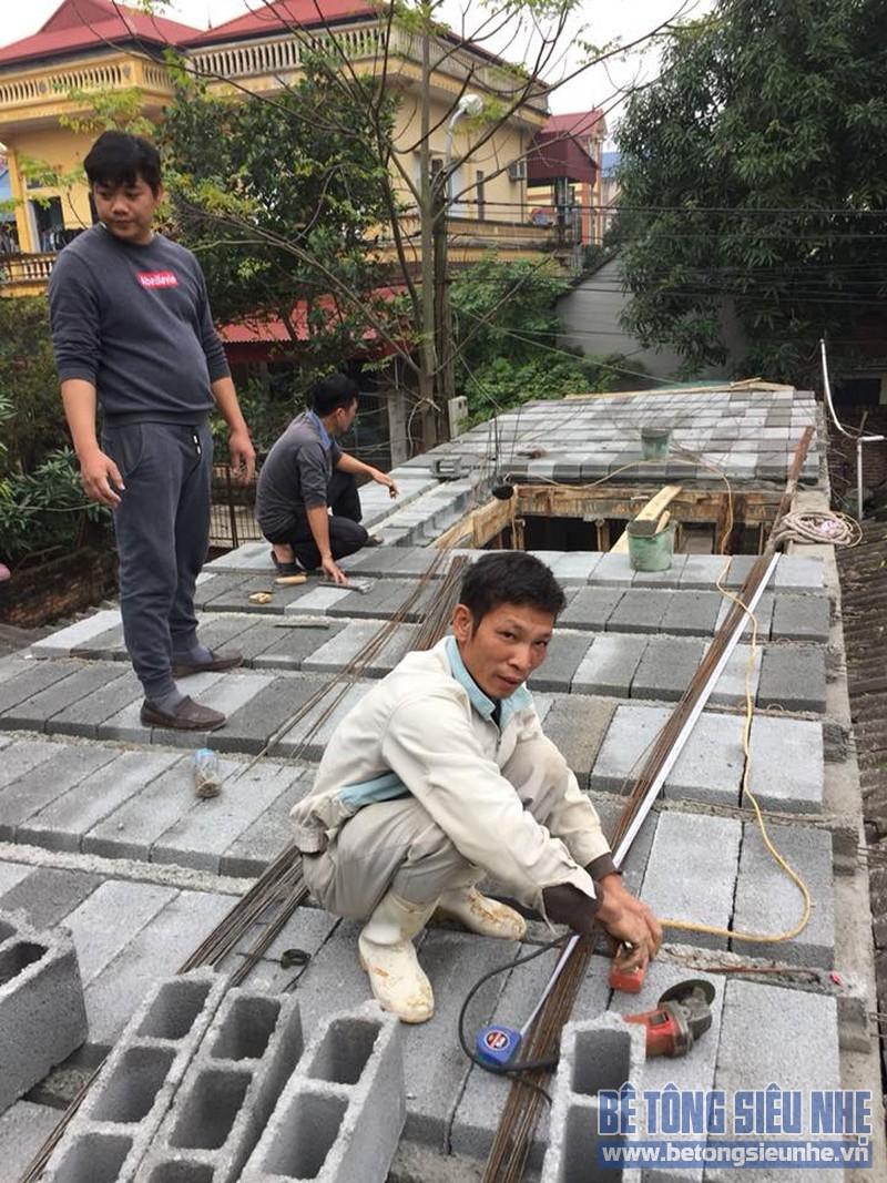 Thi công sàn bê tông siêu nhẹ làm mái nhà cho gia đình anh Doanh, Sóc Sơn, Hà Nội - 06
