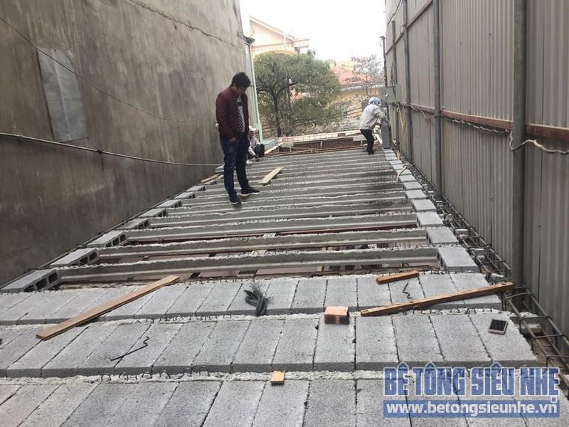 Thi công nhà khung thép và sàn bê tông siêu nhẹ nhà anh Quang, Tây Tựu, Bắc Từ Liêm, Hà Nội - 07