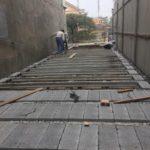 Thi công nhà khung thép và sàn bê tông siêu nhẹ nhà anh Quang, Tây Tựu, Bắc Từ Liêm, Hà Nội
