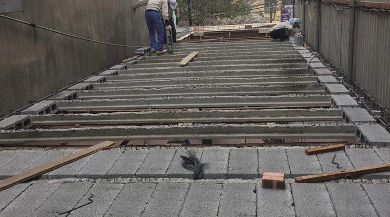Thi công nhà khung thép và sàn bê tông siêu nhẹ nhà anh Quang, Tây Tựu, Bắc Từ Liêm, Hà Nội - 08